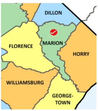 Marion Co SC map
