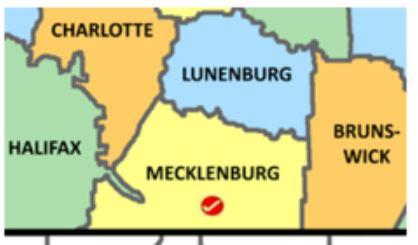 Mecklenburg Co map
