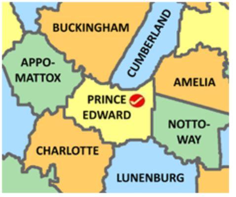Prince Edward map