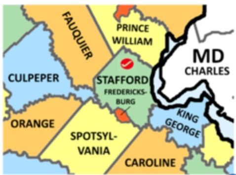 Stafford Co Va map