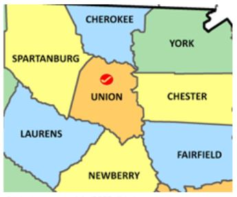 Union Co SC map