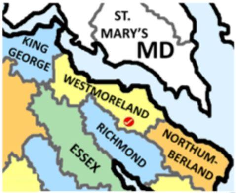 Westmoreland Co Va map