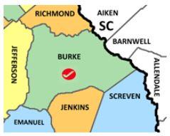 Burke Co Ga map