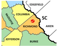 Richmond Co map