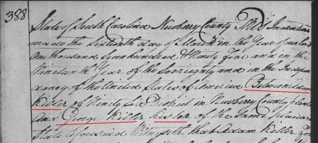 1795 Adam Keller to George Keller his son marked