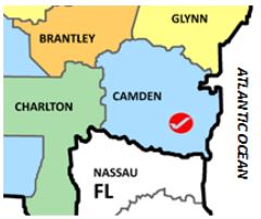 map Camden Co Ga