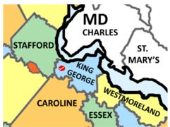 Map of King George Co Va